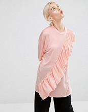 Monki Ruffle T-Shirt