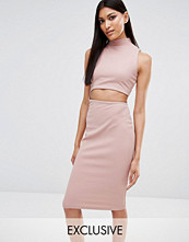 Missguided Exclusive Cut Out High Neck Bodycon Midi Dress