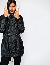 Vero Moda Short Padded Jacket With Faux Fur Hood