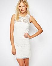 Sisley Crochet Sleeveless Dress in White