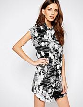 Sisley Floral Print Shirt Dress