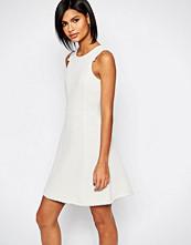 Sisley Tweed Knit Dress in Cream