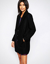 Pepe Jeans Meg Classic Black Wool Mix Coat