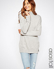 Asos Tall Tunic With High Neck In Cashmere Mix