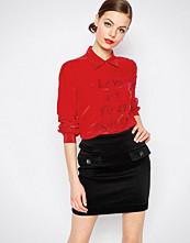 Love Moschino Love At First Sight Silk Mix Shirt