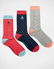 Penguin 3 Pack Socks In Red Dots