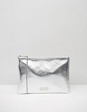 Carvela Metallic Clutch Bag With Optional Cross Body Strap