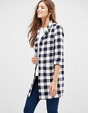 Girls on Film Checked 3/4 Sleeve Coat