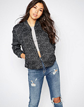 Native Youth Knit Effect Fleece Bomber