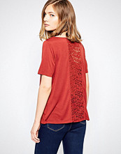 Jdy Kimmie Shirt with Lace Back Insert In Henna