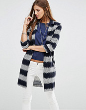 Girls on Film Stripe Jacket With 3/4 Sleeves