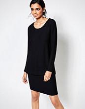 Ganni Layered Long Sleeve Black Dress