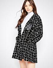 Liquorish Monochrome Grid Check Lightweight Jacket