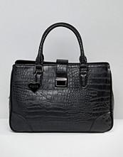 Marc B Marlene Croc Push Lock Tote Bag