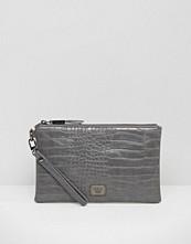 Marc B Leanne Croc Wristlet Clutch Bag