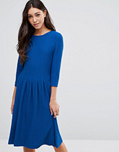 Ganni Long Sleeve Dress with Pleat Waist Detail