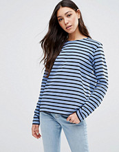 Ganni Old Spice Striped Long Sleeve Top