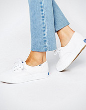 Keds Classic Leather Plimsoll Trainers
