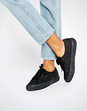 Superga Classic Plimsoll Trainers In All Black