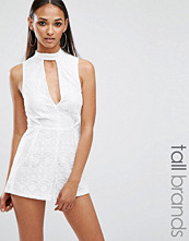 Missguided Tall Lace Neck Detail Playsuit