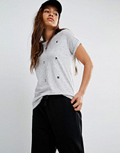 Converse Grey T-Shirt With All Over Print Logo