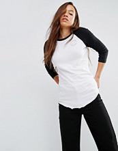Converse White Long Sleeve Raglan T-Shirt With Metallic Logo