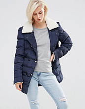 Girls on Film Padded Coat With Faux Shearling