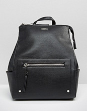 ALDO Structured Backpack With Zip Top & Side Pockets