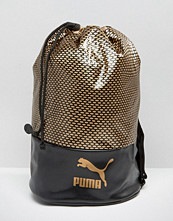 Puma Bucket Bag In Black And Gold