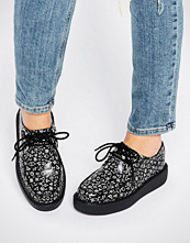 T.U.K T.U.K. Viva Astro Signs Leather Creeper Flat Shoes