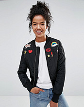 Brave Soul Black Pop Bomber