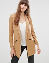 Vero Moda Noah Longline Jacket In Brown