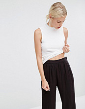 Monki High Neck Ribbed Top