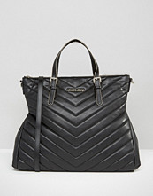 Armani Jeans Chevron Quilted Tote