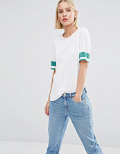 Weekday T-Shirt with Stripe Sleeve