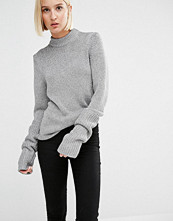 Cheap Monday High Neck Knit Jumper with Extended Sleeves
