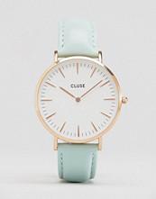 Cluse La Boh�me Rose Gold & Mint Leather Watch CL18021
