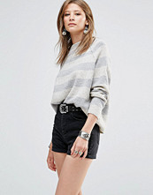 Free People Bubble Jumper With Crew Neck In Stripe
