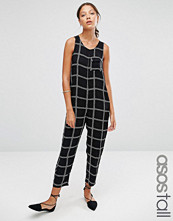 Asos Tall Minimal jumpsuit In Rope Check