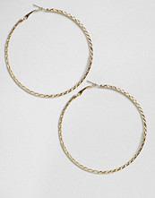 DesignB London Etched Hoop Earings