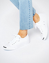 Converse Jack Purcell White Canvas Trainers