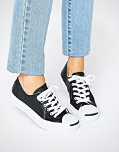 Converse Jack Purcell Black Leather Trainers