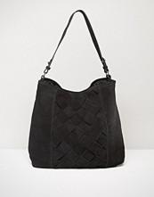 Pieces Woven Leather Shoulder Bag