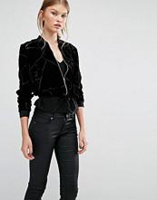 Vero Moda Velvet Burnout Bomber Jacket