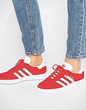 Adidas Originals Red Suede Gazelle Trainers