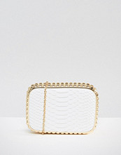 Claudia Canova Faux Snakeskin Clutch Bag