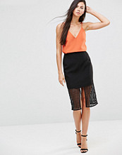 Finders Keepers Stand Still Lattic Detail Skirt
