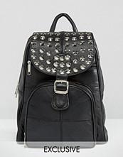 Reclaimed Vintage Studded Leather Backpack