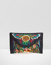 Reclaimed Vintage Embroidered Envelope Clutch Bag