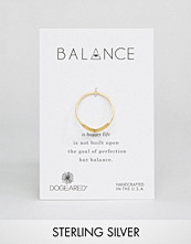 Dogeared Gold Plated Balance V Ring